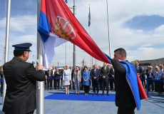CERN: Serbian flag hoisted outside CERN building